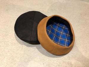 レザーベレー帽2